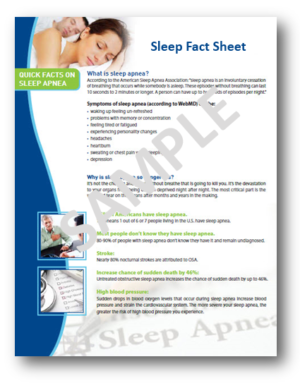 dental sleep fact sheet for patients