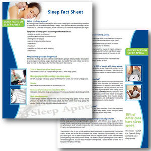 sleep marketing fact sheet